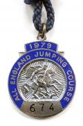 1979 All England Jumping Course Hickstead members badge