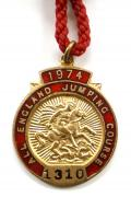 1974 All England Jumping Course Hickstead members badge