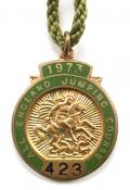 1973 All England Jumping Course Hickstead members badge