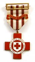 British Red Cross Society Medical Officer technical badge named to a Doctor