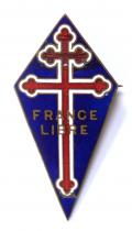 WW2 Free French Navy FNLF officers full size numbered breast badge