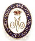 H.M. Queen Mary's Royal Naval Hospital Southend 1915 Nurses Badge