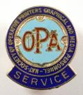 National Society of Operative Printers trade union badge