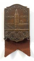 1948 Olympic Games London hockey player competitors badge