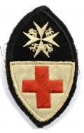 WW1 BRCS & Order of St John officers felt cloth uniform badge