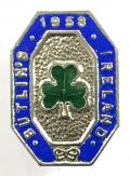 Butlins 1958 Mosney Ireland holiday camp shamrock badge