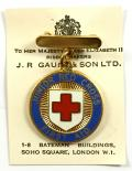 BRCS Junior Red Cross proficiency in first aid badge and box