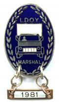 Lorry Driver of the Year 1981 LDOY truck badge