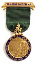 British Medical Assoc Eastbourne 1931 President Obstetrics BMA badge