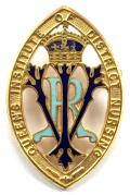 Queens Institute of District Nursing 21 years service badge
