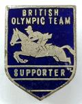British Olympic 1960 equestrian badge Pat Smythe riding Prince Hal