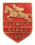 Olympic Games 1960 equestrian badge Pat Smythe riding Prince Hal