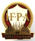 Industrial Fire Protection Association of Great Britain IFPA firemans cap badge