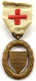 WW1 Yarrow Military Hospital bronze war service medal