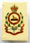 WW1 Dorsetshire Regiment celluloid matchbox cover