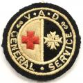 WW1 BRCS & Order of St John VAD General Service felt badge
