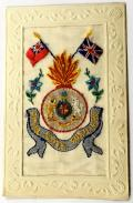 WW1 Royal Scots Fusiliers silk embroidered military postcard