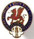 Monmouthshire & South Wales collieries miners safety badge