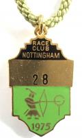 Nottingham 1975 horse racing club badge