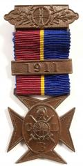 Church Lads Brigade CLB bronze service medal with 1911 clasp