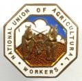 National Union of Agricultural Workers trade union badge