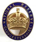 WW1 National Reserve Gloucester home front badge