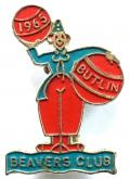 Butlins Holiday Camp 1965 Beaver Club thin circus clown badge