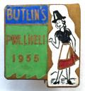 Butlins 1955 Pwllheli Holiday Camp Welsh lady sign post badge