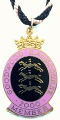 2000 Goodwood Racecourse horse racing badge