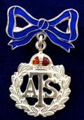 Auxiliary Territorial Service ATS silver bow sweetheart brooch