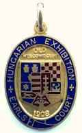 Hungarian Exhibition 1908 Earls Court exhibitors badge