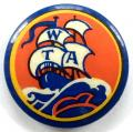 Workers Travel Association celluloid tin button badge c1940s