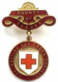 British Red Cross Society County of Sussex badge