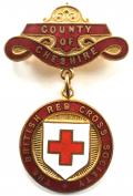 British Red Cross Society County of Cheshire badge