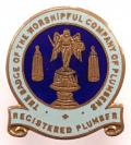 The Badge of the Worshipful Company of Plumbers trade union badge