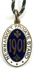 1901 Newmarket private stand horse racing club badge