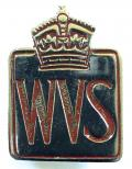 Womens Voluntary Service WVS utility badge c1947 to 1950