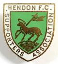 Hendon football club supporters badge c1950s