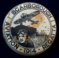 Scarborough Aviation Regatta 1914 Bleriot monoplane badge