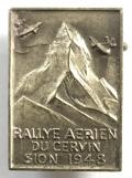 Rallye Aerien Du Cervin Sion 1948 Air Rally in Switzerland badge