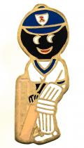 Robertsons 1990 Golly Cricketer acrylic badge