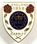 1958 British Empire & Commonwealth Games Cardiff badge