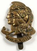 WW1 28th County of London Artists Rifles brass cap badge