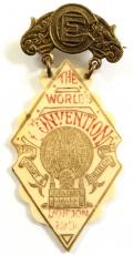 Christian Endeavour 19th World Convention London 1900 delegate badge