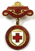 British Red Cross Society County Antrim badge Northern Ireland