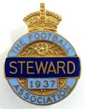 The Football Association 1937 steward badge