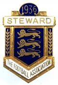 The Football Association 1936 steward badge