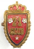 WW2 Butlins 21 Club servicemen 21st Army Group leave centre badge