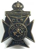 WW1 CLB Cadets Kings Royal Rifle Corps lapel badge