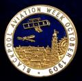 Blackpool Aviation Week October 1909 aircraft biplane tower badge